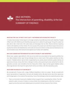 Able Mothers Report - Summary of Results
