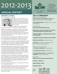 Publications - 2013 Annual Report Cover