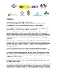 Legal Strategies Coalition media release
