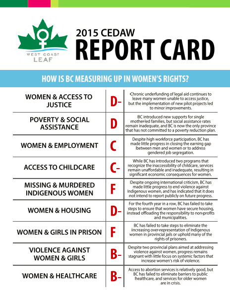 2015 CEDAW Report Card cover image