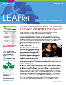 LEAFlet winter 2015 cover image