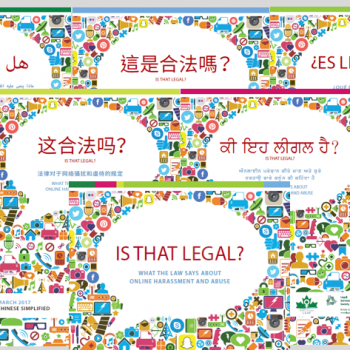 "images of the ""is that legal"" research document in many languages"