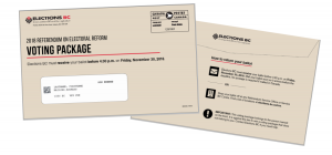 Image of a BC Referendum Envelope front and back