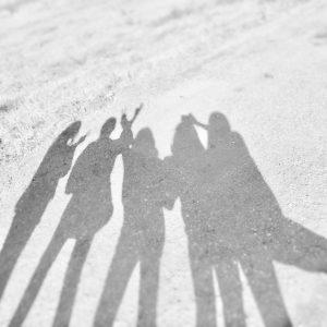 Photo of a group of shadows