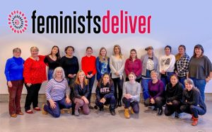 Group shot of team members involved in Feminists Deliver