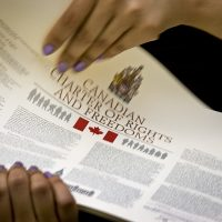 Charter of Rights and Freedoms in a person's hands