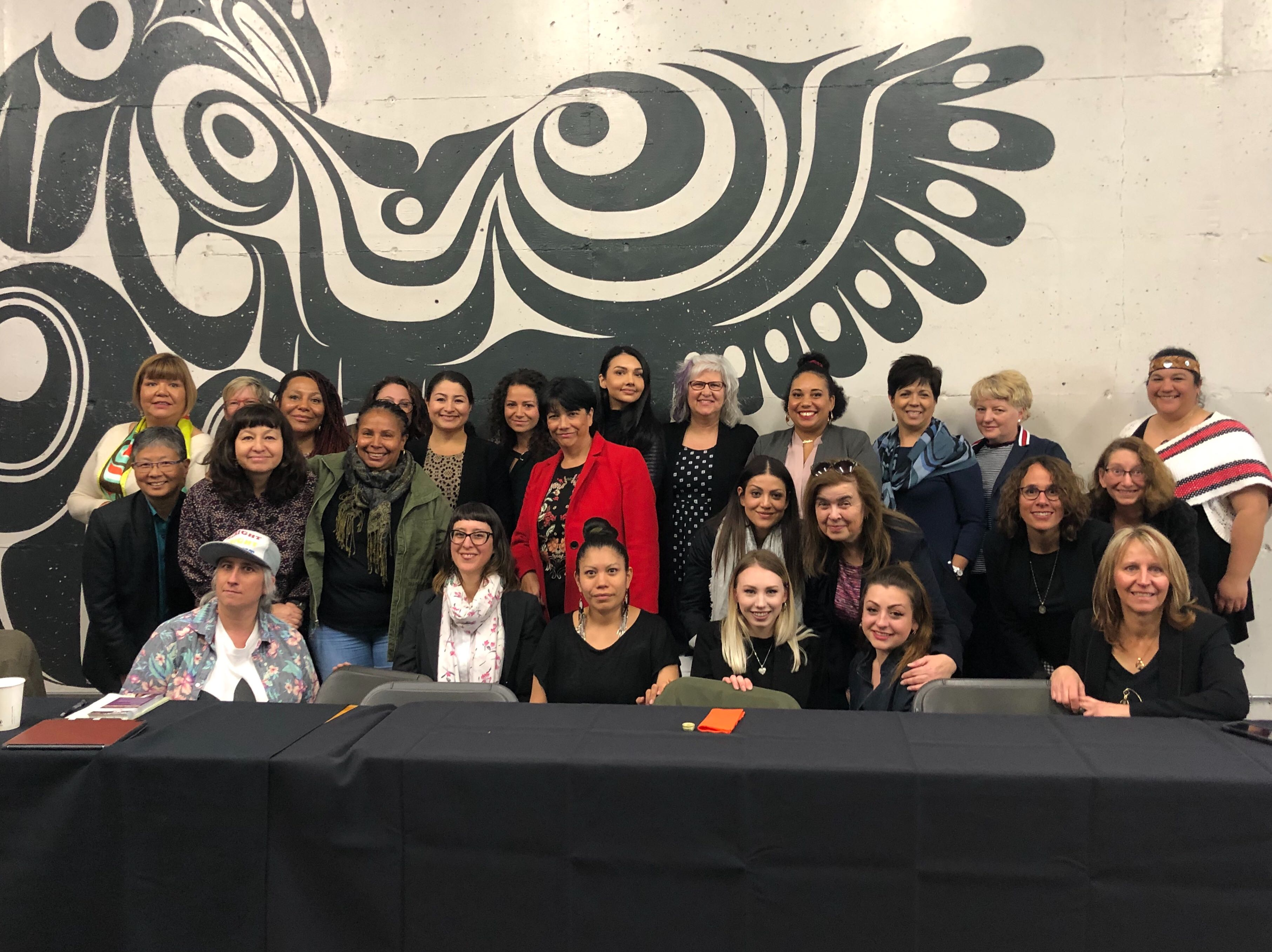 Group shot from the roundtable with Minister Monsef, by Feminists Deliver