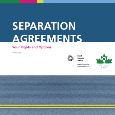 Separation Agreements booklet cover. Click to access a PDF of the booklet.